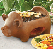 The pig terracotta grill gift