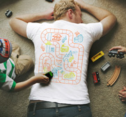 Car and railroad playmat T-shirt gifts for kids