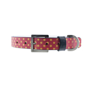 The polka dot designer dog collar gift by Fred Fred