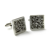 The personalised secret message QR code cufflink gift