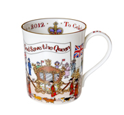 The Diamond Jubilee artist's limited edition mug gift