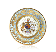 The official Queen's Diamond Jubilee 2012 china side plate gift