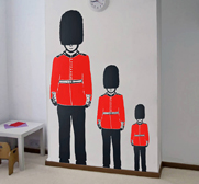 The Queen's Guard soldier vinyl wall sticker gift
