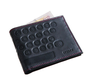 The Qwerty keyboard leather wallet gift by The Letteroom