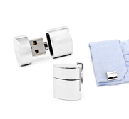 Ravi Ratan's silver WiFi Hotspot and USB combo cufflink gift