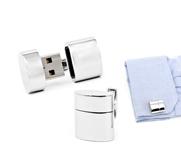 Ravi Ratan's silver WiFi Hotspot and USB combo cufflink gift