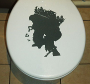 HRH The Royal Throne Sticker by Philip Watts Design