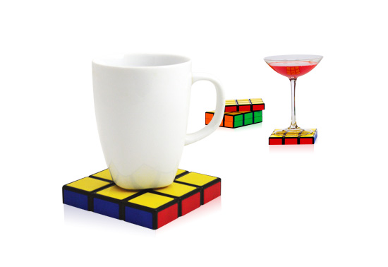 The Rubik's Cube coaster gift