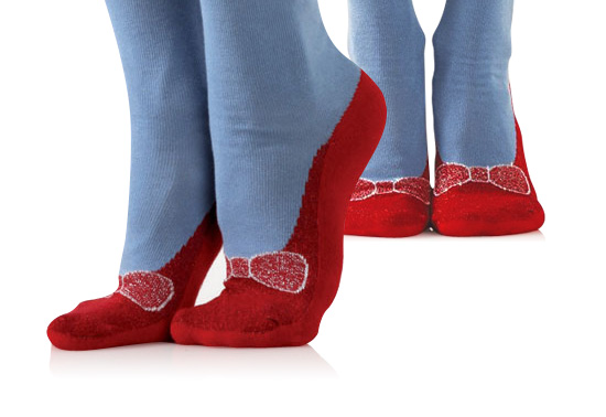 Get your Ruby slipper click your heels sock gift