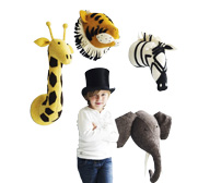 The safari animal heads gift for kids