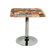 The Skatecafe recycled skateboard dining tables