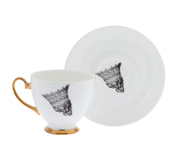 The skull Queen's Jubilee teacup and saucer gift by Melody Rose