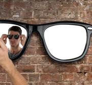The looking good sunglasses mirror by Thabto