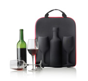 The Swirl Wine carrier with glasses gift