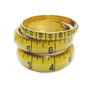 The mustard tape measure bangle gift