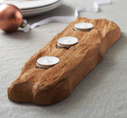 The driftwood tealight gift