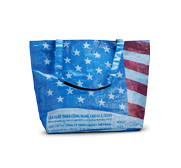 The Torrain American flag recycled tote bag gift