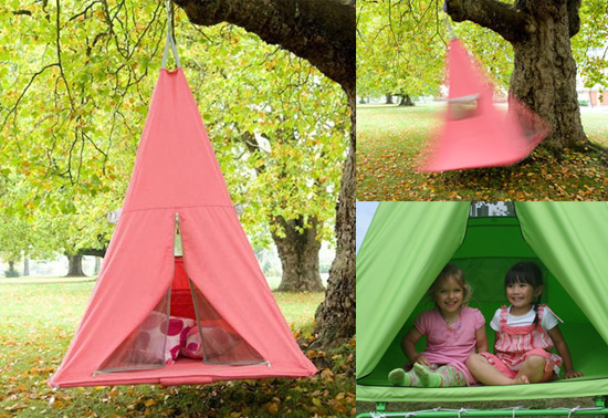 The gift of bounce, swing & fun in a Treepee tent