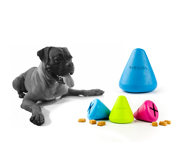 The Tretkon dog treat cone toy gift