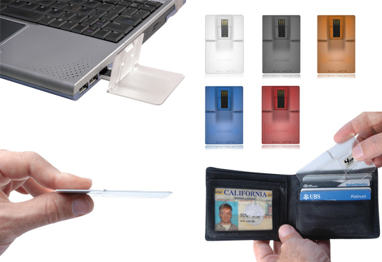 The USB credit card sized flash drive gift