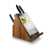 The Victorinox 360� rotating cutlery block with tablet stand gift