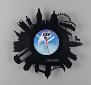 Pavel Sidorenko's Re Vinyl wall clock gifts
