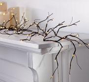 The Willow branch garland pre-lit battery-operated gift