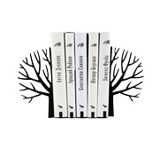 The minimalist winter tree bookend gift