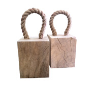 The solid mango wood door stopper gift by Ramika