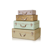 The wooden suitcase storage boxes gift