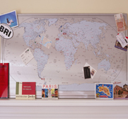 A huge magnetic World map gift